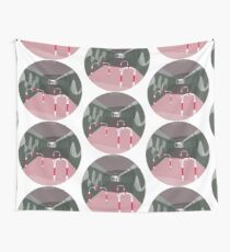 0104 Bicycle slow through tunnel - circle Wall Tapestry