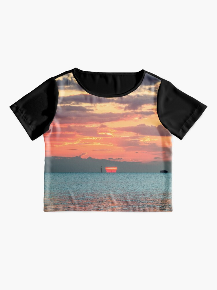 Alternate view of Solent Sunrise Chiffon Top