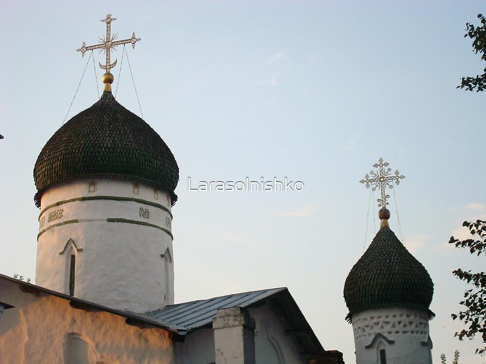 Russian church in city, Ostrov, 15 century by Larasolnishko