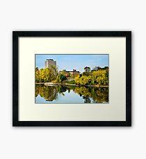 Susquehanna River City Landscape Framed Print