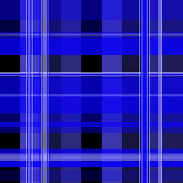 Blue and Black Plaid by PharrisArt