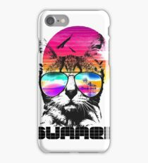 Colored summer cat iPhone Case/Skin
