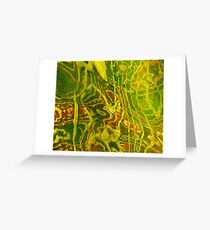 Abstract   Green Red Water Design   Nadia Bonello Greeting Card