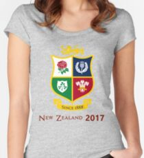 British Lions 2017 Zew Zealand Rugby Union Women's Fitted Scoop T-Shirt