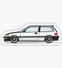 white EF 3 Sticker