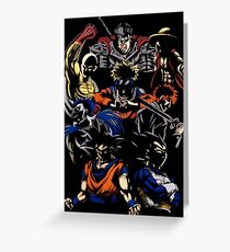 MIX DBZ OTHER Greeting Card