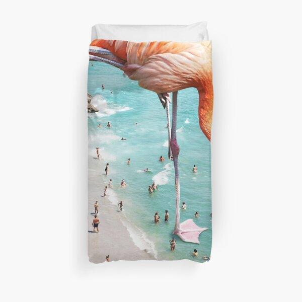 Flamingos on the Beach #redbubble #decor Duvet Cover