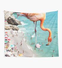 Flamingos on the Beach #redbubble #decor Wall Tapestry