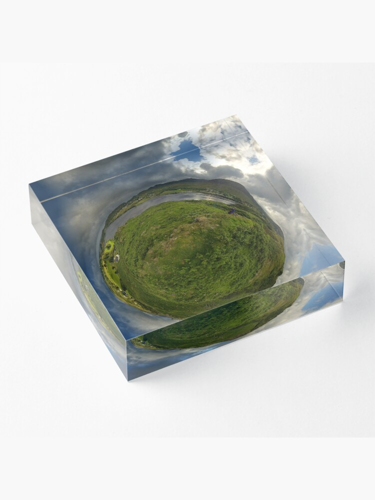 Alternate view of Teelin Bay from Roxborough fort, S. Donegal Acrylic Block