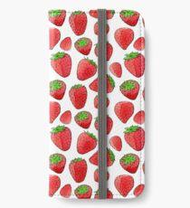 Watercolor strawberry pattern iPhone Wallet/Case/Skin