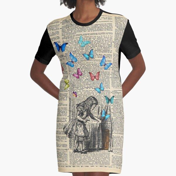 Alice In Wonderland - Let The Adventure Begin Graphic T-Shirt Dress