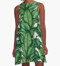 Botanical Leaves A-Line Dress