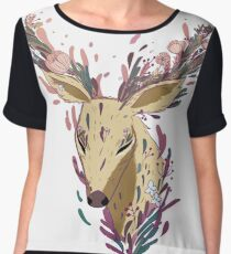 Deer Women's Chiffon Top