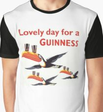 Vintage Guinness Beer Ad Toucans Graphic T-Shirt