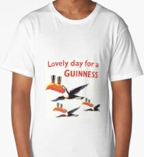 Vintage Guinness Beer Ad Toucans Long T-Shirt