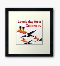 Vintage Guinness Beer Ad Toucans Framed Print
