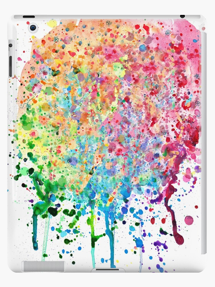 75556db193028 'Rainbow Paint Splatter Drip' iPad Case/Skin by SaradaBoru