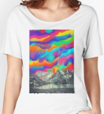 Skyfall, Melting Northern Lights Women's Relaxed Fit T-Shirt