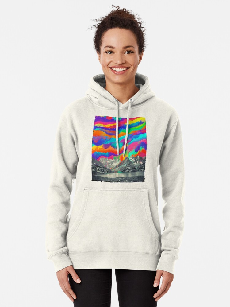 Alternate view of Skyfall, Melting Northern Lights Pullover Hoodie