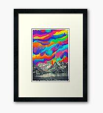 Lámina enmarcada Skyfall, fusión de la aurora boreal