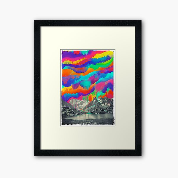 Skyfall, Melting Northern Lights Framed Art Print