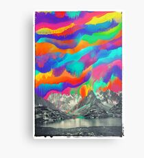Skyfall, Melting Northern Lights Metal Print