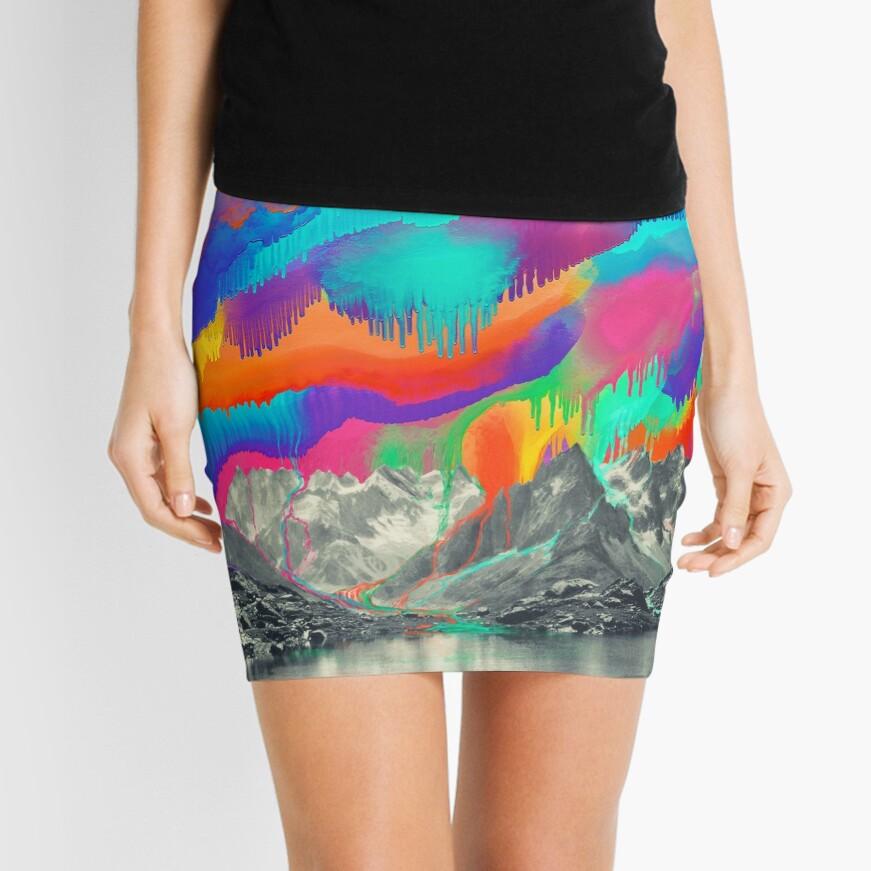 Skyfall, Melting Northern Lights Mini Skirt