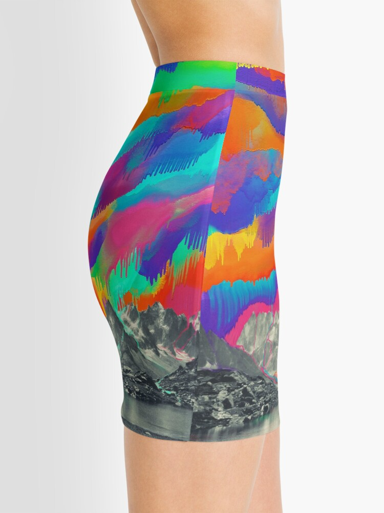 Alternate view of Skyfall, Melting Northern Lights Mini Skirt