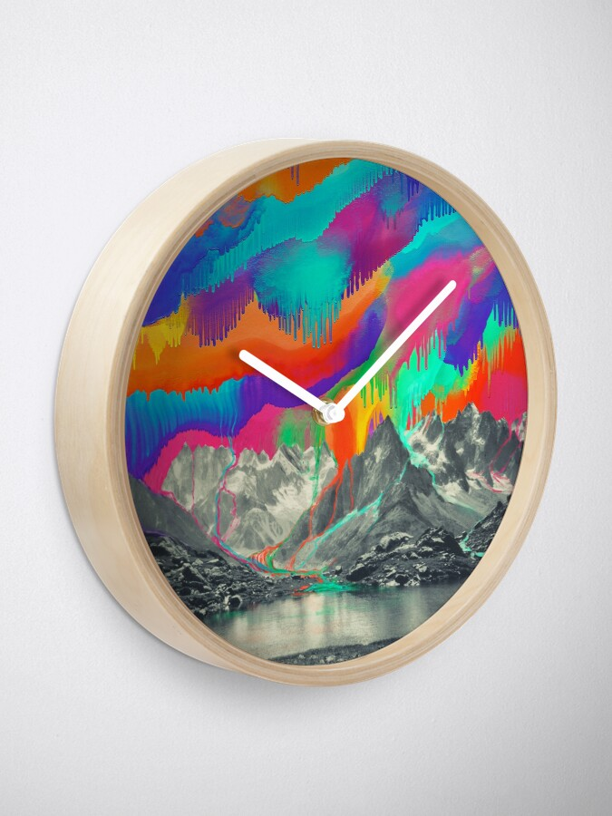 Alternate view of Skyfall, Melting Northern Lights Clock