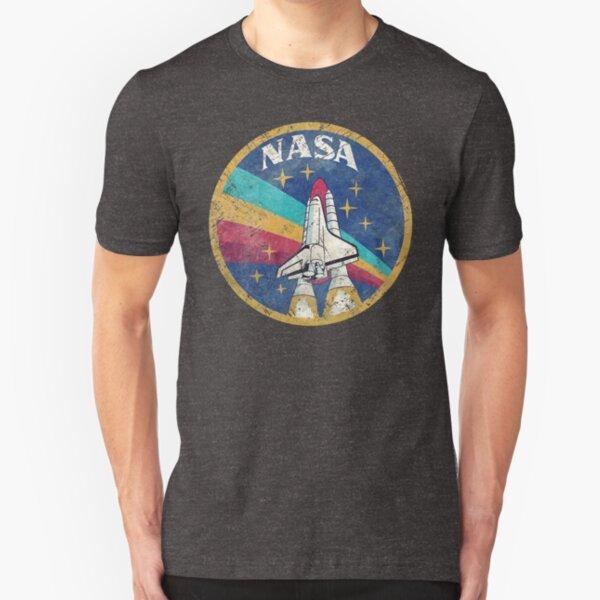 Nasa Vintage Colors V02 Slim Fit T-Shirt