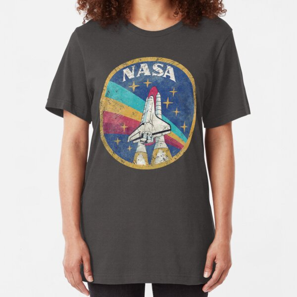 Nasa Vintage Colors V02 Slim Fit T-Shirt
