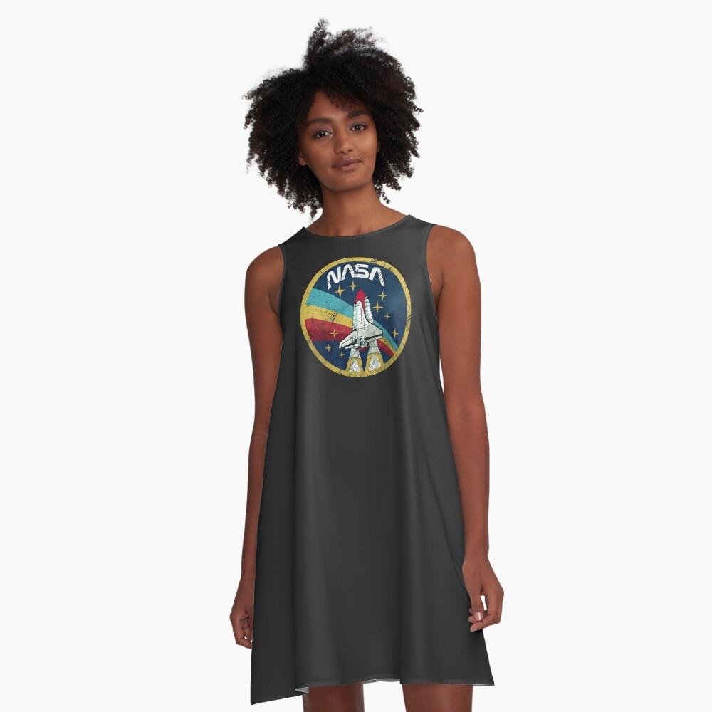 Nasa Vintage Colors V01 A-Line Dress