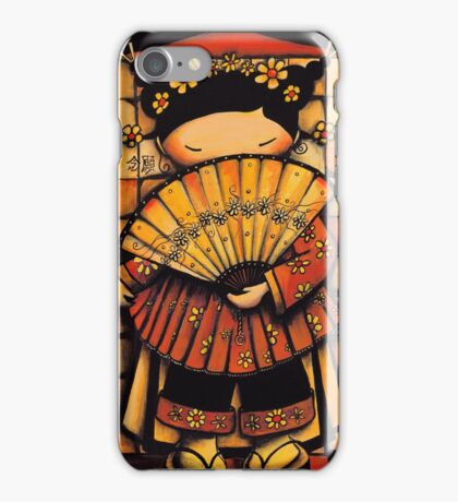Chinese Red Fan Girl iPhone Case/Skin