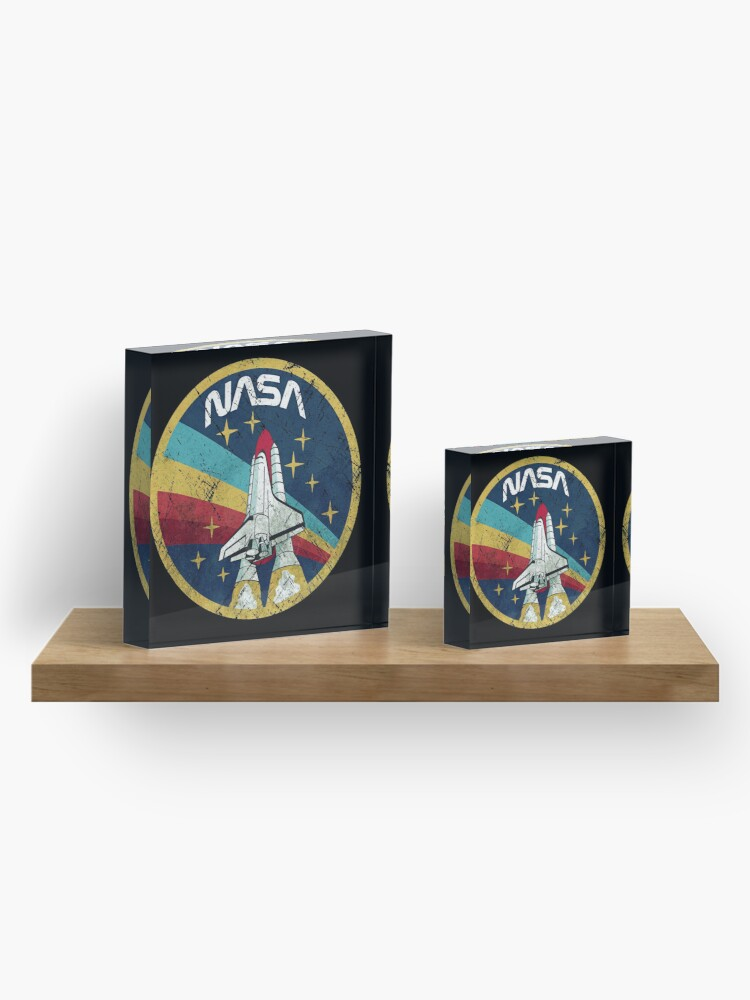 Alternate view of Nasa Vintage Colors V01 Acrylic Block