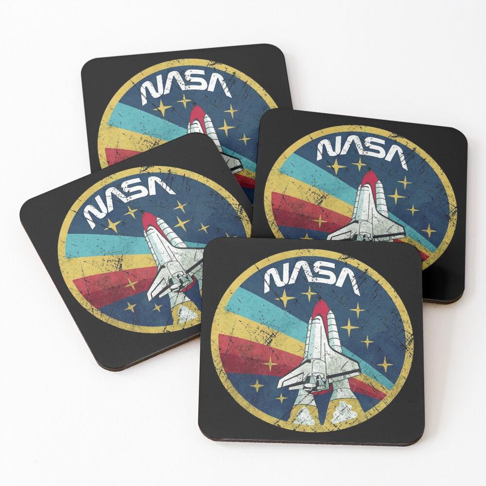 Nasa Vintage Colors V01 Coasters (Set of 4)