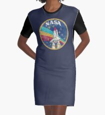 Nasa Vintage Colors V02 Graphic T-Shirt Dress
