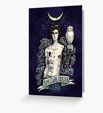 Ville Valo: Spiritual Murder Greeting Card