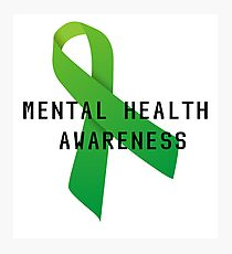 Mental Health Awareness Photographic Print