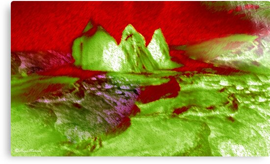 Love Can Move Mountains-abstract 121- Art + Products Design  by haya1812