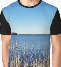 """Incredi-blue"" lake view - Lake Mendota, Madison, WI Graphic T-Shirt"
