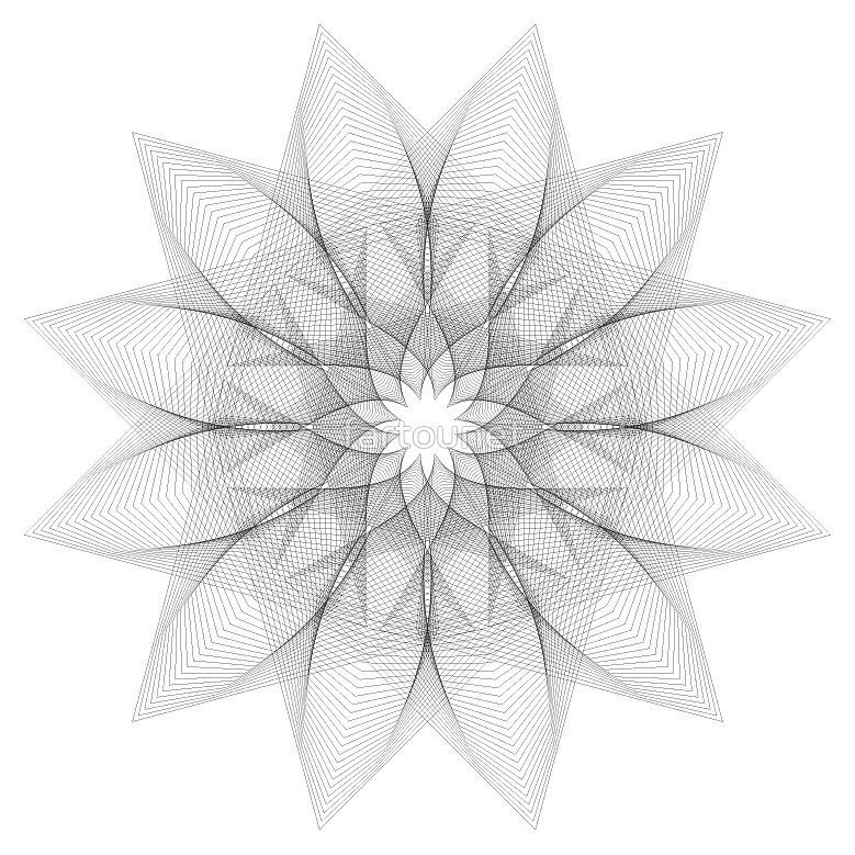 Graphic flower (v1) by fartounet