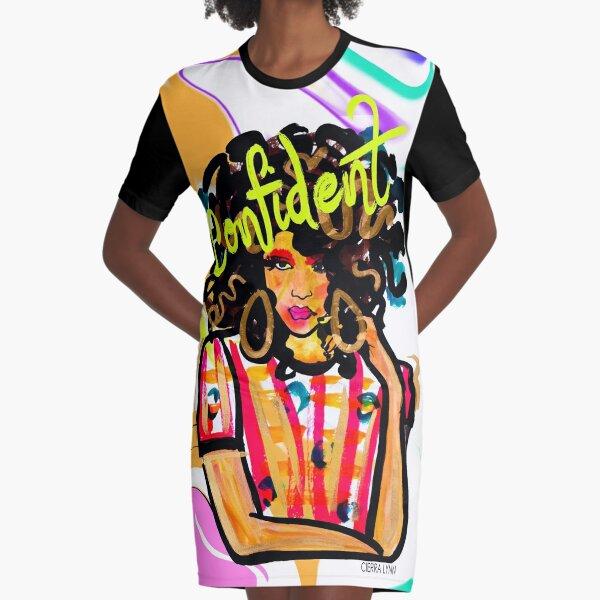 CONFIDENT Graphic T-Shirt Dress