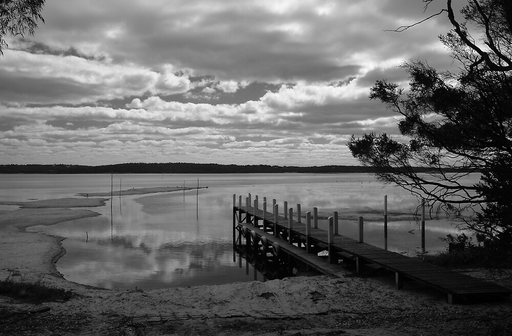 Inlet Jetty at low tide by georgieboy98