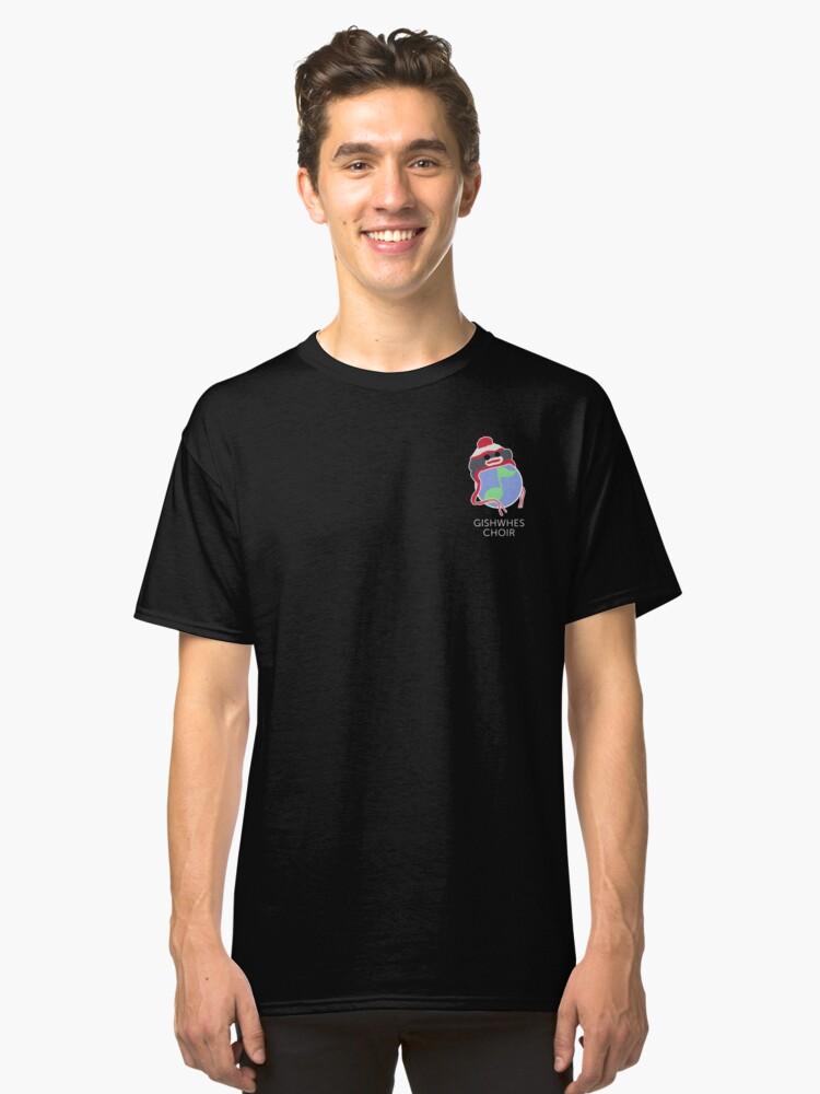 Gishwhes Choir: Sock Monkey Small World Classic T-Shirt Front