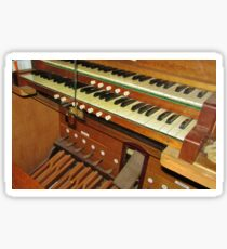 Organ Console Sticker