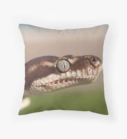 Concentration - Rough Scaled Python Throw Pillow