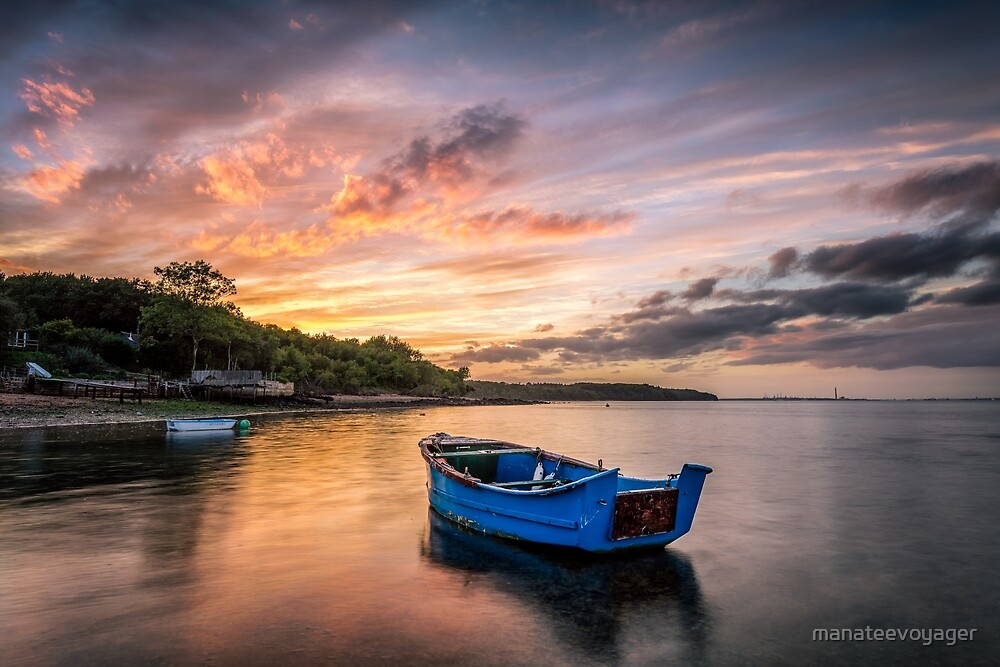 Little Boat Sunset by manateevoyager