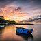 Ships or Boats at Sunset