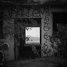 Beach View Through An Abounded House   Breezy Point, New York by © Sophie W. Smith