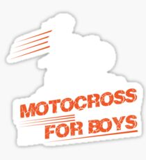 Motocross These Toys Ain't Just For Boys Sticker